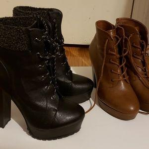 Boots, 2 pairs/1 price